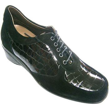 Sapatos Mulher Richelieu Roldán Sapato de camurça e couro mulheres combi negro