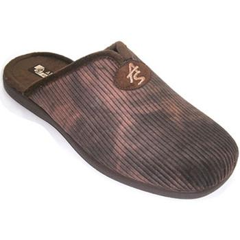 Sapatos Homem Chinelos Andinas Thongs homem de veludo com abertura pá  em Brown marrón