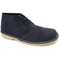 Sapatos Homem Botas baixas Danka Ampla toe inicialização safari  em Azul-marinho azul