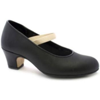 Sapatos Mulher Escarpim Danka Flamenco salto do sapato de dança e pés com borracha de metal de negro
