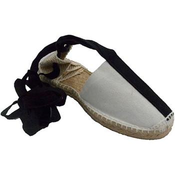 Sapatos Alpargatas Made In Spain 1940 Sandálias de cânhamo com fitas tipo de p blanco