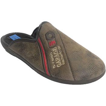 Sapatos Homem Chinelos Made In Spain 1940 Homem Chancla com acabamento em couro te beige