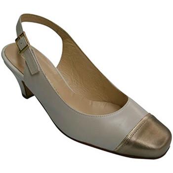 Sapatos Mulher Sandálias Pomares Vazquez Sapato metalizado calcanhar mulher dedo azul