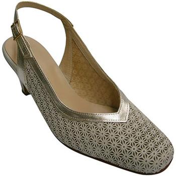 Sapatos Mulher Escarpim Pomares Vazquez flange aberta mulher sapato de volta sap beige