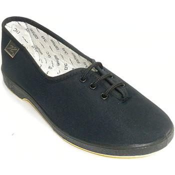 Sapatos Mulher Chinelos Doctor Cutillas atacadores pessoa plana mais  em Preto negro