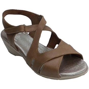 Sapatos Mulher Sandálias Made In Spain 1940 Mulher com sandália de tiras cruzadas Cl marrón