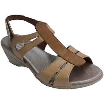 Sapatos Mulher Sandálias Made In Spain 1940 Sandália da mulher com faixa central em marrón