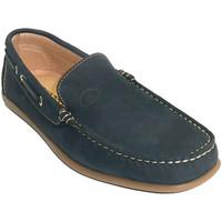 Sapatos Homem Mocassins Edward's Homem mocassim náutico único tipo de verão costurado  em Azul-ma azul