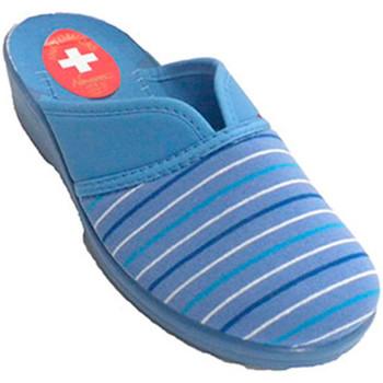 Sapatos Mulher Chinelos Nevada Zapatila ser mulher de volta para casa aberta com a abertura pá azul