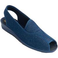 Sapatos Mulher Sandálias Nevada Abrir mulher salto do sapato e toe-cinta atrás  em Tejano azul