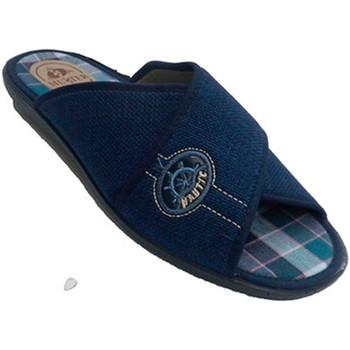 Sapatos Homem Chinelos Muñoz Y Tercero Chancla ser homem casa tiras cruzadas  em Azul-marinho azul