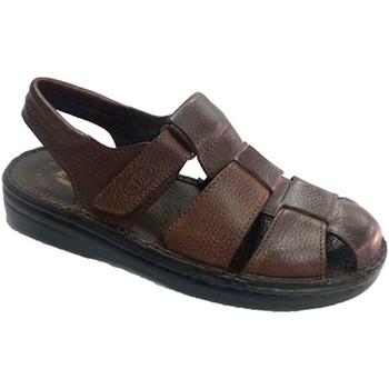 Sapatos Homem Sandálias Muñoz Y Tercero Homem sandália fechada pelo calcanhar dedo aberto  em Brown marrón