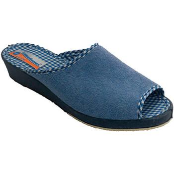 Sapatos Mulher Chinelos Made In Spain 1940 Mulher toalha Thongs ponta aberta Soca e azul
