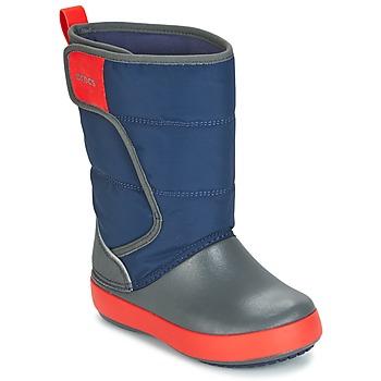 Sapatos Criança Botas de neve Crocs LODGEPOINT SNOW BOOT K Marinho