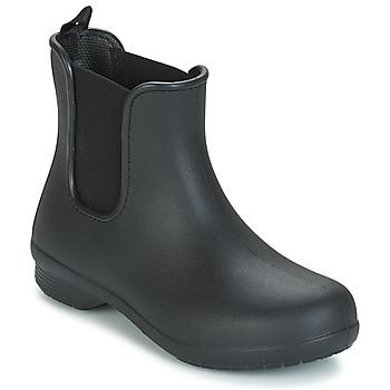 Sapatos Mulher Botas baixas Crocs CROCS FREESAIL CHELSEA Preto