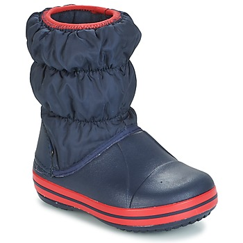 Sapatos Criança Botas de borracha Crocs WINTER PUFF BOOT KIDS Marinho