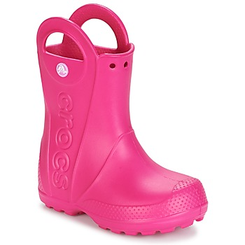 Sapatos Rapariga Botas de borracha Crocs HANDLE IT RAIN BOOT Rosa