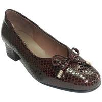Sapatos Mulher Mocassins Roldán Mulher de couro com sapato tipo simula manoletinas snakeskin  em violeta