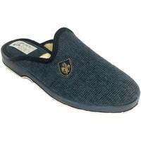 Sapatos Homem Chinelos Made In Spain 1940 Thongs homem para estar em casa lã forro azul