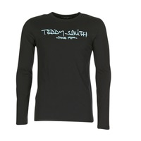 Textil Homem T-shirt mangas compridas Teddy Smith TICLASS 3 ML Preto