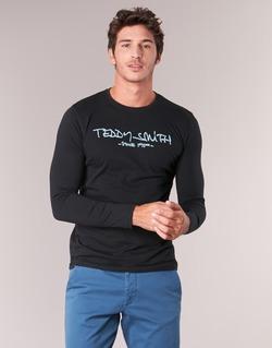 Textil Homem T-shirt mangas compridas Teddy Smith TICLASS 3 ML Preto