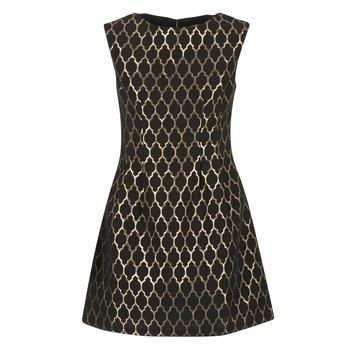 Textil Mulher Vestidos curtos Molly Bracken DIRCO Preto / Ouro