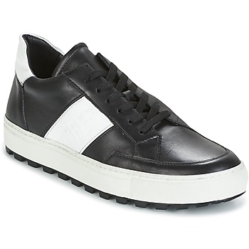 Sapatos Homem Sapatilhas Bikkembergs TRACK-ER 966 LEATHER Preto / Branco