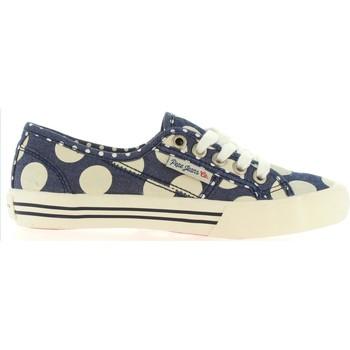 Sapatos Criança Sapatilhas Pepe jeans PGS30178 BAKER Azul