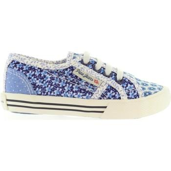 Sapatos Criança Sapatilhas Pepe jeans PGS30199 BAKER Azul
