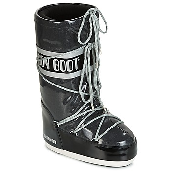 Sapatos Mulher Botas de neve Moon Boot MOON BOOT STARRY Preto / Branco