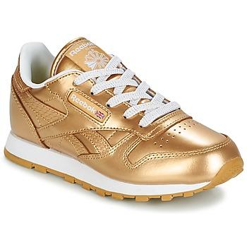 Sapatos Rapariga Sapatilhas Reebok Classic CLASSIC LEATHER MET Ouro