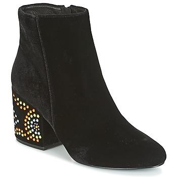 Sapatos Mulher Botins Café Noir GIROU Preto