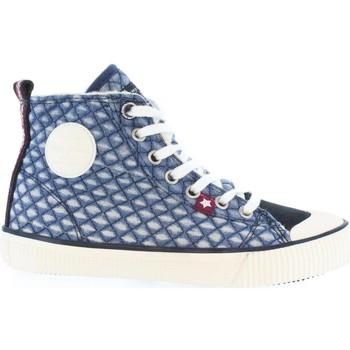 Sapatos Criança Botas baixas Pepe jeans PGS30223 INDUSTRY DENIM Azul