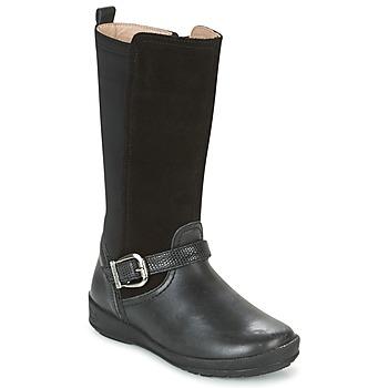 Sapatos Rapariga Botas Garvalin NEW FLORES Preto