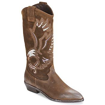 Sapatos Mulher Botas Now SATURNA Castanho