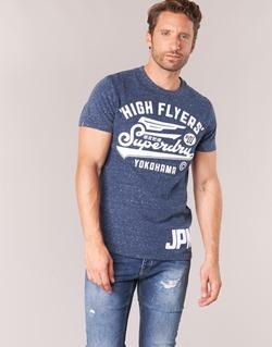Textil Homem T-Shirt mangas curtas Superdry HIGH FLYERS REWORKED Marinho