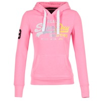 Textil Mulher Sweats Superdry VINTAGE LOGO STRIPE FADED Rosa