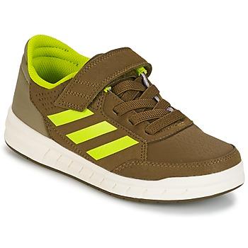 Sapatos Rapaz Sapatilhas adidas Performance ALTASPORT EL K Cáqui / Amarelo