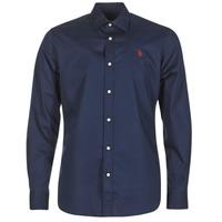 Textil Homem Camisas mangas comprida U.S Polo Assn. ZED Marinho