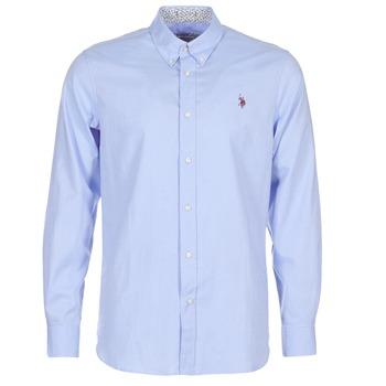 Textil Homem Camisas mangas comprida U.S Polo Assn. CALE Azul