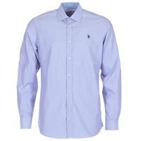 Textil Homem Camisas mangas comprida U.S Polo Assn. RUSTY Marinho
