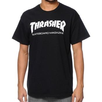 Textil Homem T-Shirt mangas curtas Thrasher CAMISETA  SKATE MAG Preto