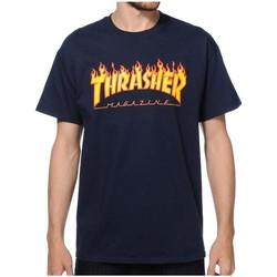 Textil Homem T-Shirt mangas curtas Thrasher CAMISETA  FLAME LOGO AZUL HOMBRE Azul