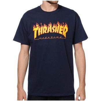 Textil Homem T-Shirt mangas curtas Thrasher 110102 azul