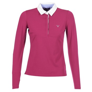 Textil Mulher Polos mangas compridas Gant SOLID JERSEY LS RUGGER Rosa
