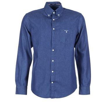 Textil Homem Camisas mangas comprida Gant THE INDIGO SHIRT Azul
