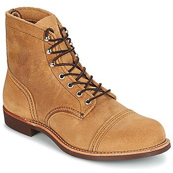 Sapatos Homem Botas baixas Red Wing IRON RANGER Camel