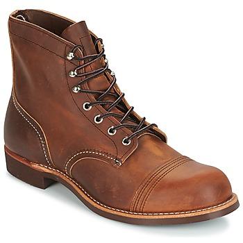 Sapatos Homem Botas baixas Red Wing IRON RANGER Castanho