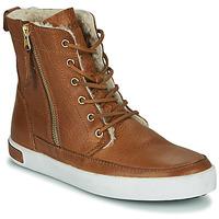 Sapatos Mulher Sapatilhas de cano-alto Blackstone CW96 Castanho