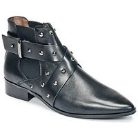 Sapatos Mulher Botas baixas Ikks LOW BOOTS BRIDGE ROCK Preto
